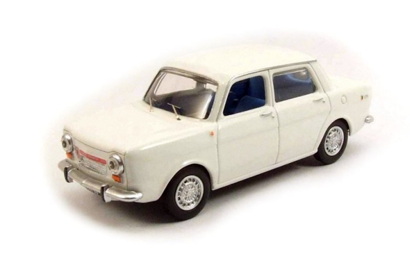 BEST - Simca 1150 Abarth Blanche  - 1963 - BES9475 -
